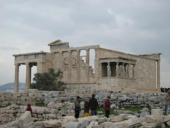 cariatide, templu, Acropole