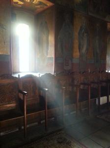 În biserică